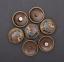 Antique-Brass-Southeast-Ethnic-Indian-Head-Turquoise-Leathercraft-Belt-Conchos miniature 11