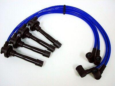 FOR 95-98 NISSAN 200SX 10.2MM RACING RACE SPARK PLUG WIRES TRIPLE CORE BLACK