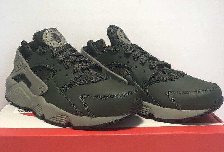 Nike Uomo taglia 9 aria scarpe huarache grigio verde scuro atletico in scarpe aria da ginnastica le scarpe e92d01