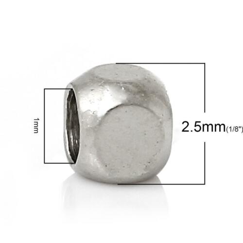 Cuivre 50 perles de rocaille argent perle entretoises 2.5mm bright silver-SP116