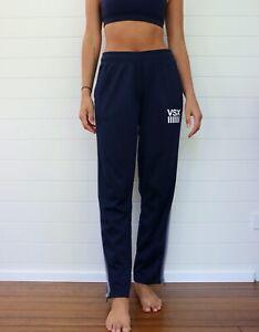 Victorias Secret Women's Navy Side Stripe Active Track Pants - Small   eBay