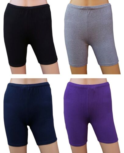 CHEX Cotton Lycra Hot Pants Black Navy Purple Grey Ladies Fitness Exercise Short