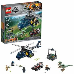 LEGO-Jurassic-World-Blue-039-s-Helicopter-Pursuit-75928-Building-Kit-397-pieces
