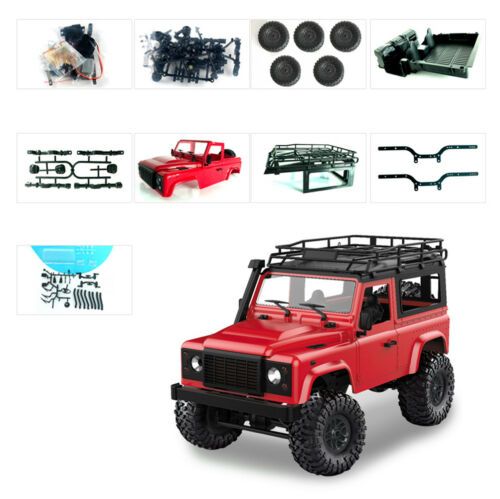 2.4G DIY 1//12 RC Car KIT Remote Control Crawler Off-road 4WD Toys Truck Set