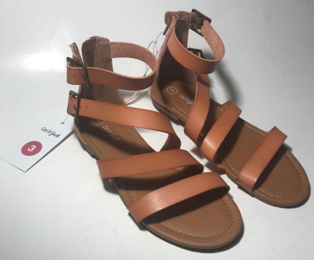 Girls/' Leontine Asymmetrical Gladiator Sandals Cat /& Jack™ Tan Size 4