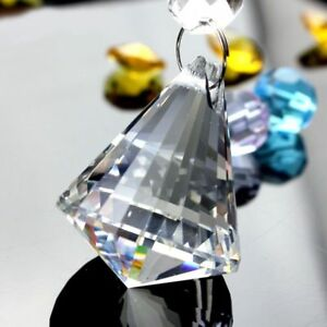 Crystal-Diamond-Pendant-Light-Ball-DIY-Faceted-Prism-Natural-Stones-amp-Minerals