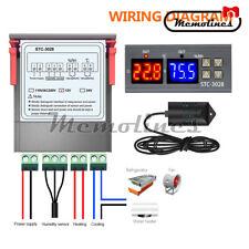 Stc 3028 Digital Temperatureamphumidity Controller Display Dc12v Probe Ntc Sensor