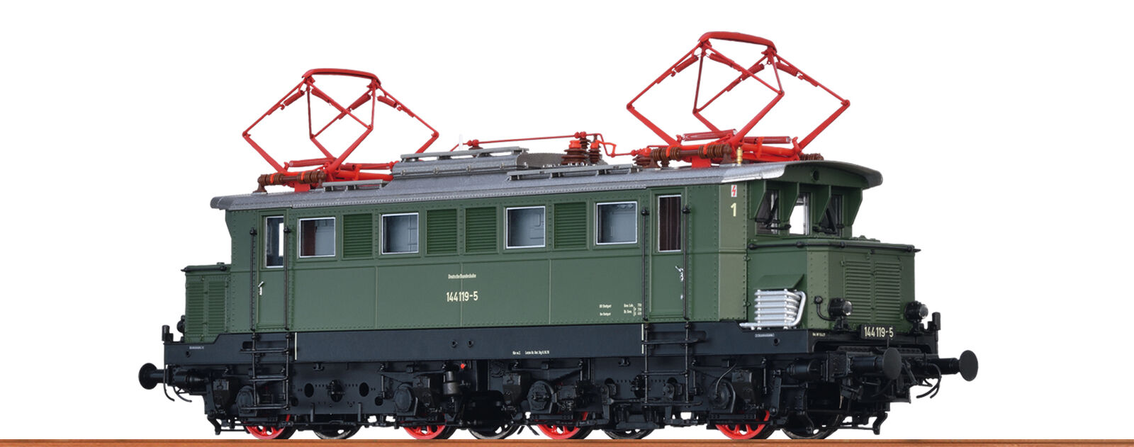 Brawa 43415 Escala H0 Locomotora Eléctrica BR144 DB, IV, AC Dig Extra