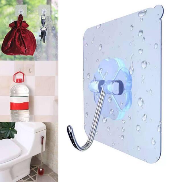 Strong Transparent Suction Cup Sucker Vacuum Wall Hooks Hanger Kitchen Bathroom