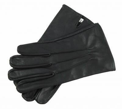 Hart Arbeitend Schwarz Handschuhe Aus Leder - Sehr Anschmiegsam Und Zart