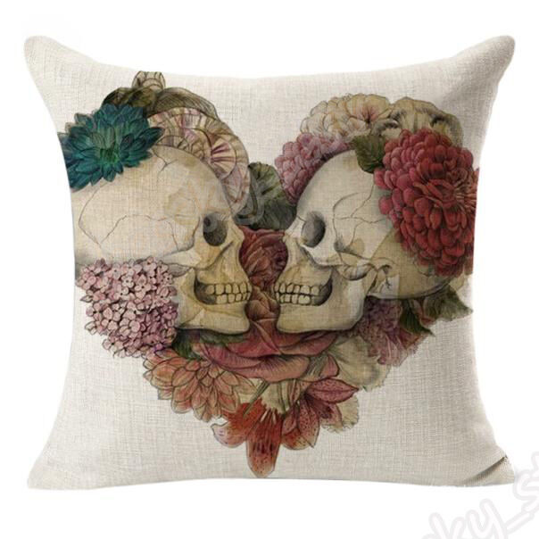 Gentil Modern Vintage Skull Linen Decorative Cushion Covers Sofa Car Throw Pillow  Cases | EBay