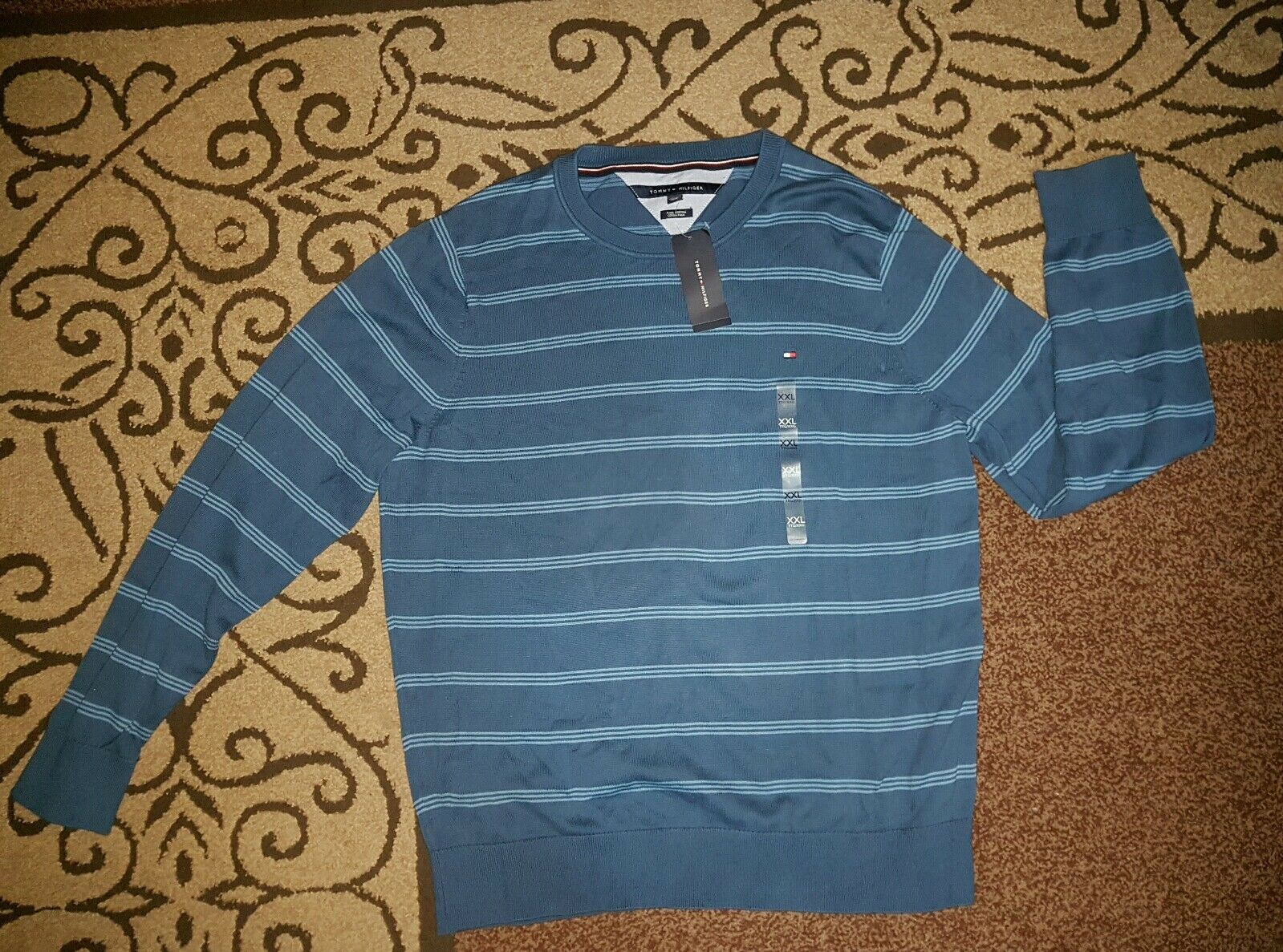 Herren long sleeve stripe t-shirt XXL