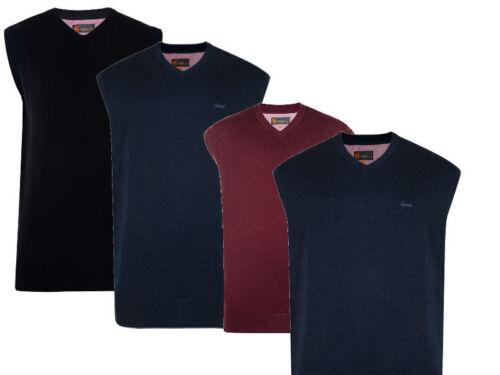 NUOVA linea uomo men/'s Big /& Tall Lavorato A Maglia V-Neck senza maniche Canotta puro cotone maglione
