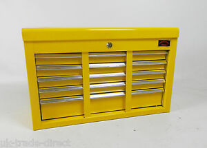 NEW-TOOL-CHEST-LARGE-YELLOW-9-DRAWER-WITH-KEY-LOCK-AND-US-BALL-BEARING-SLIDES