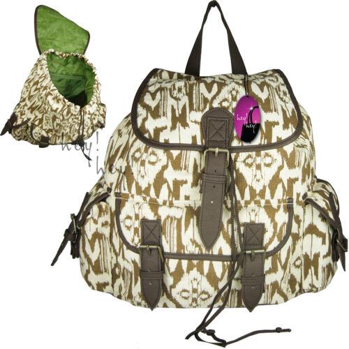 Leinen Rucksack Damen Tasche Rucksack M L Reise Schule College Mädchen