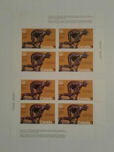 Canada #656, $1 1975, The Sprinter, plate blocks, MNH