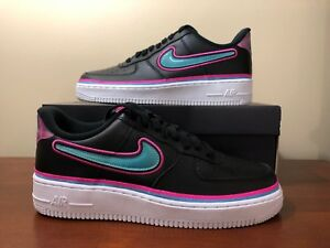 19aa75f7b8ad Nike Air Force 1 07 LV8 Sport AF1 NBA Maimi South Beach Men AJ7748 ...