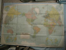 ANTIQUE THE WORLD MAP National Geographic December 1932