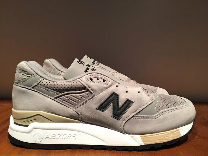 NEW BALANCE M998DTK LIGHT GREY/BLACK  MADE IN THE USA