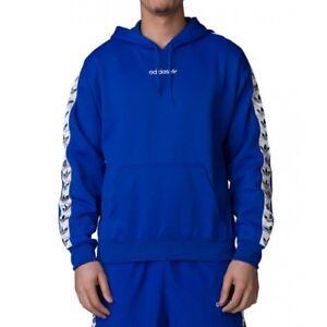 Men's adidas Trefoil Hoodie Blue DV1504 | eBay