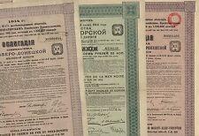 3er Lot: Moskau-Kiev-Woronesch- + Schwarzmeer- + Nord-Donetz-Eisenbahn, 1913-14