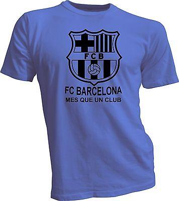 FC Barcelona España Spain Soccer Futbol T Shirt Camiseta Mes que un club Blue