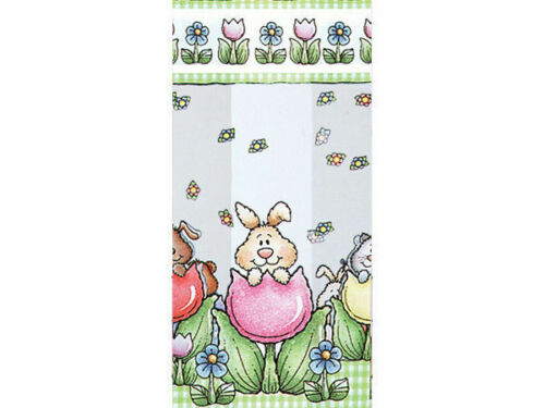 Springtime Flowers Tulips Animals Cello Cellophane Candy Gift Party Bags Easter