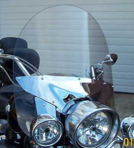 "YAMAHA ROYAL STAR TOUR DELUXE  2005-UP 14"" x 24"" CLEAR REPLACEMENT WINDSHIELD"