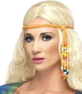 Smiffys-60s-70s-Flower-Power-Hippy-Fancy-Dress-Headband-Party-New