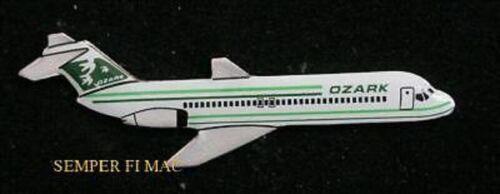 AUTHENTIC OZARK DC-9 DOUGLAS PIN BROACH JET AIRLINER