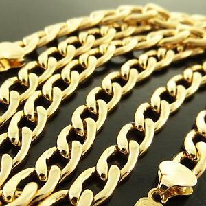 FSA167-GENUINE-REAL-18K-YELLOW-GOLD-G-F-SOLID-MENS-CLASSIC-CURB-NECKLACE-CHAIN