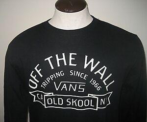 9f32770c6c Vans Mens Loring Off The Wall Old Skool Crewneck sweatshirt Black ...