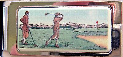 Barlow Designs Color Golfers Hinged Money Clip