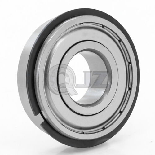 1x 6204-ZZ Ball Bearing 20mm x 47mm x 14mm Double Shielded Seal  w// Snap Ring