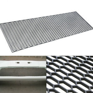 Details about Car Racing Honeycomb Mesh Tuning Grill Net Spoiler Bumper  Vent ABS Plastic Black
