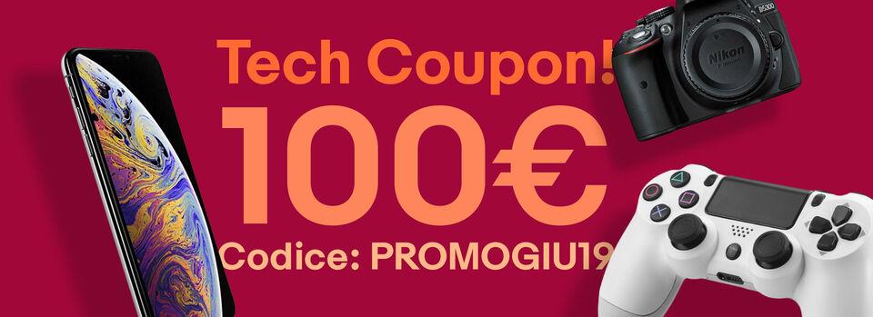 Codice: PROMOGIU19 - 100€ Tech coupon!