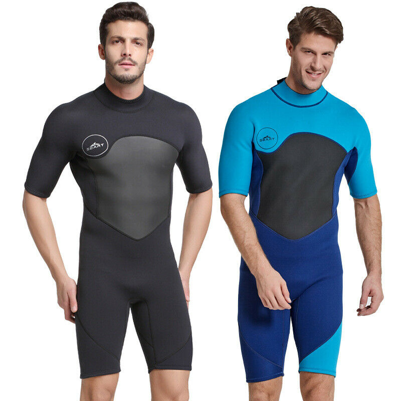 Warm Keeping Short Sleeve Surf Diving Suit Wetsuit Swimwear Swimsuit For Men