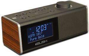 BUSH-BCR40DAB-WD-DAB-CLOCK-RADIO-WITH-USB-CHARGE-034-Refurbished-034