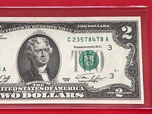 PHILADELPHIA C UNCIRCULATED 1976 $2 TWO DOLLAR BILL