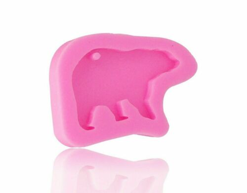 Mama Bear and Baby Shiny Silicone Mould for Keychain Pendant Epoxy Resin Mold