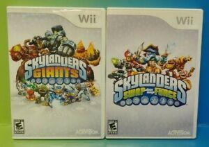 Skylanders-2-Game-Lot-Giants-amp-Swap-Force-Nintendo-Wii-Wii-U-Tested