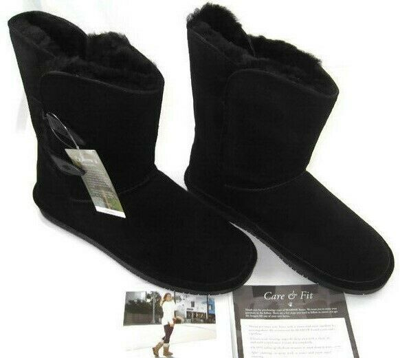 BEARPAW Abigail nero Wouomo Fashion stivali Suede Sheepskin Wool Lined, Dimensione 9 M