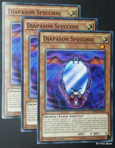 DIAPASON SPECCHIO DPDG-IT023 Comune in Italiano YUGIOH Set 3 Carte