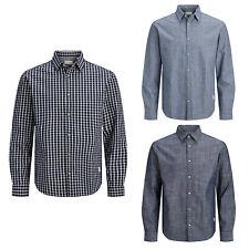 Jack&Jones Hombre camisa de manga larga 100% algodón ajuste Confort FIT
