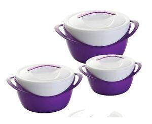 3 Pièce Pot Chaud Isolé Nourriture Chaud Casserole Hotpot Thermique Neuf-afficher Le Titre D'origine