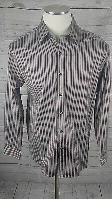 Austin Reed London Men S Long Sleeve Striped Dress Shirt Size Large Ebay