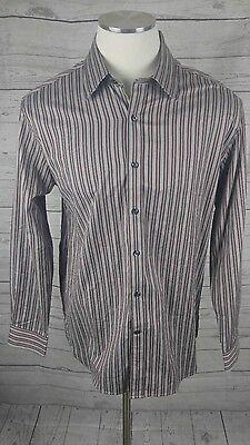 Austin Reed London Men S Long Sleeve Striped Dress Shirt Size Large Ebay