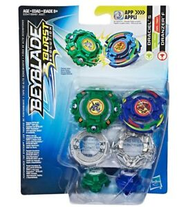 Hasbro-Beyblade-Burst-Evolution-Draciel-S-Dranzer-F-Dual-Pack-US-Seller