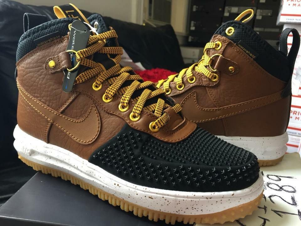 newest e71a7 39179 Nike Lunar Air Force One 1 Sneakerboot Duckboot Tan Black 805899-004 Gold  Gum low
