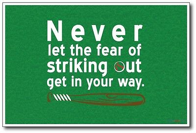 Striking Out - NEW Classroom Motivational Poster